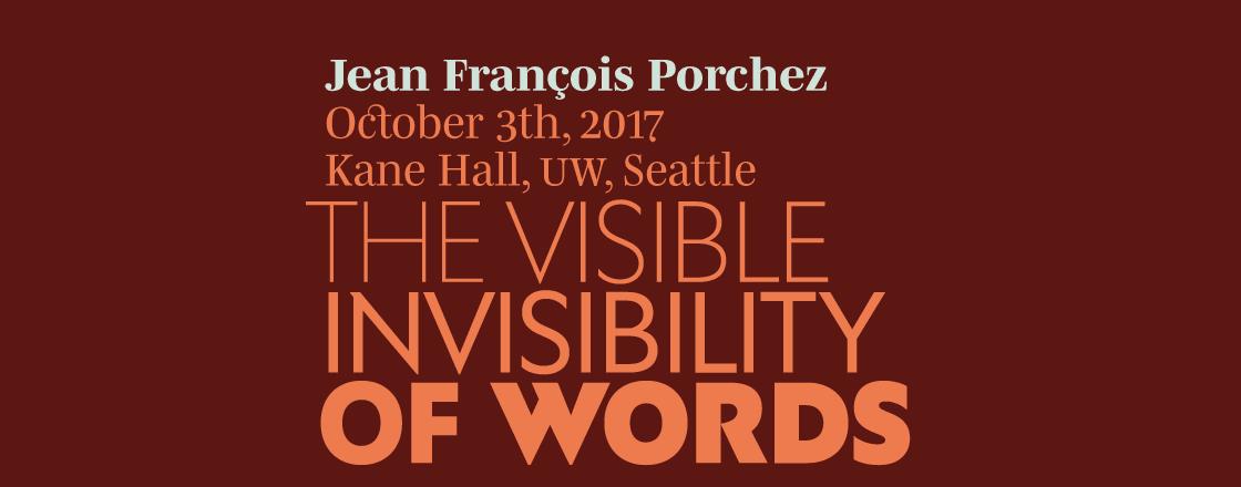 Jean François Porchez: The Visible Invisibility of Words