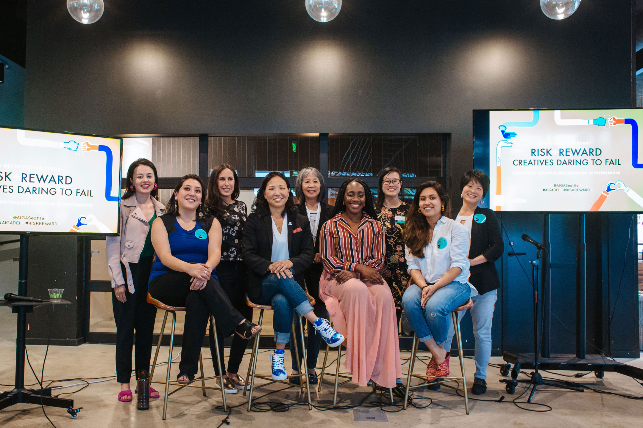 2019 RISK + REWARD | Creatives Daring to Fail event team group photo